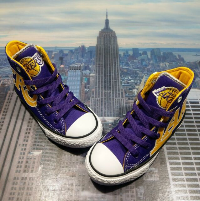Converse Junior Youth Chuck Taylor All Star Los Angeles Lakers ...