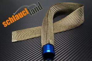 1m Alu-Titan Schutzschlauch selbstklebend ID 15mm ***  Hitze Schutz Schlauch LLK