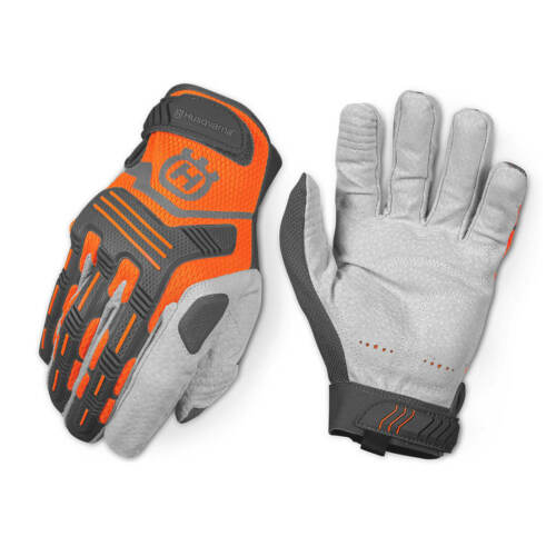 Husqvarna Chainsaw # 589752201 Heavy Duty Technical Leather Gloves medium OEM