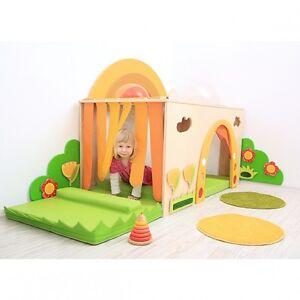 pretty nice 005d2 02116 Details about Play Den Castle Tent House Sensory Indoor/Outdoor Wooden  Garden Den Sensory Toy