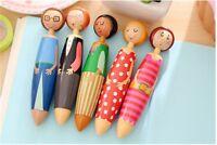 Affe 5pcs Novelty Sweet Family Girl Doll Design Ballpoint Pen/lovely Ball Pen