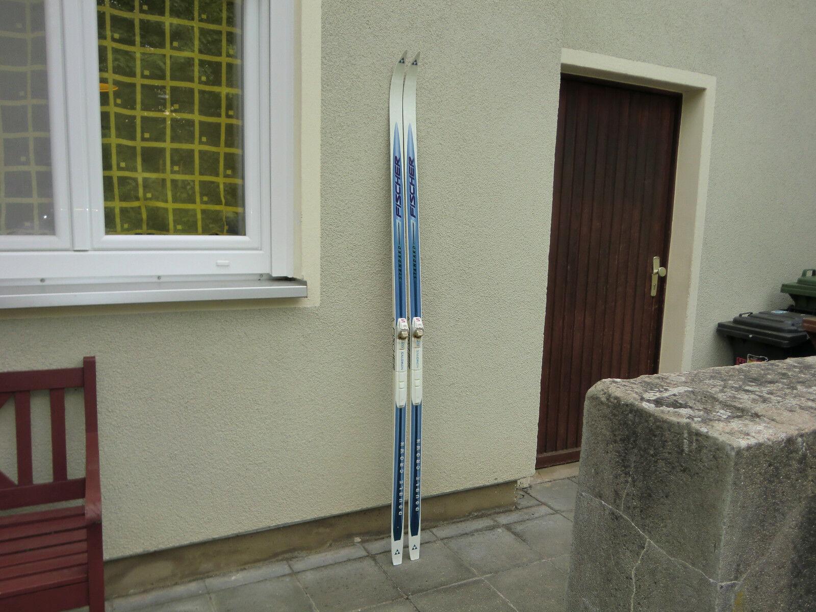 FISCHER Standard DOUBLE CROWN Langlaufski , 190 cm, mit SNS Bindung, GUT  (20)