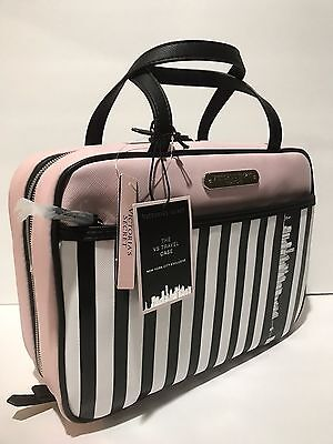 "Victoria's Secret ""New York City Exclusive"" Hanging Travel Cosmetic Bag Pink New"