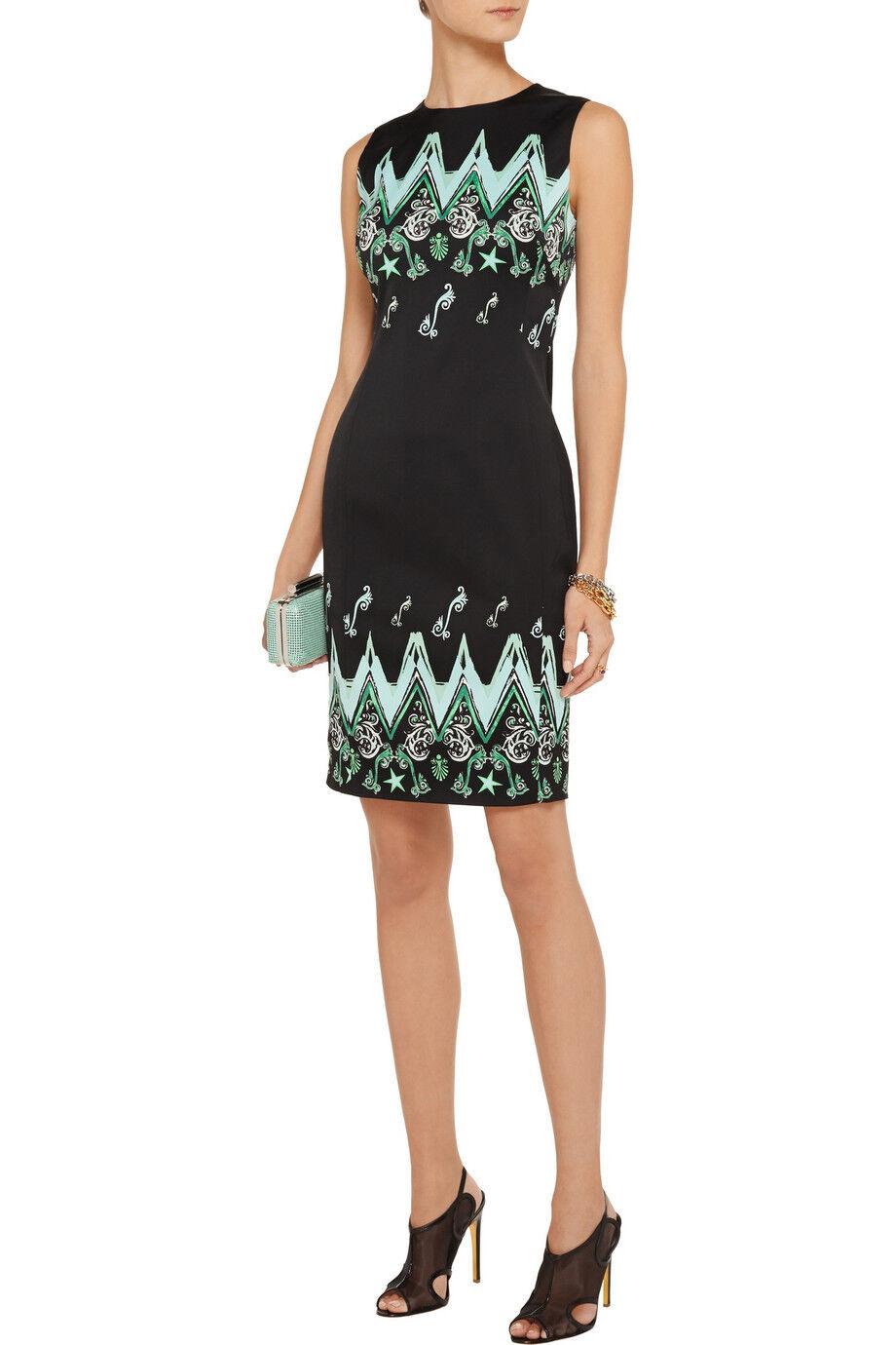 Versace Collection Collection Collection Printed cady dress ( US 6) acf554