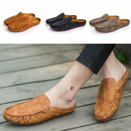 Hot Sale Men/'s Half Silpper Loafers Dress Casual Boat Shoes Driving Slip On 44