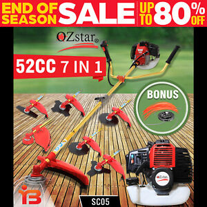 Black Eagle 52cc Petrol Brush Cutter Whipper Snipper Weed Whip Line Trimmer 7IN1