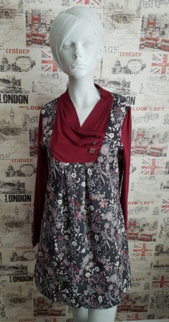 JOE BROWNS Burgundy Textured Tunic/ Dress size 16 UK