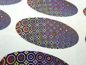Mulit-color-Patron-De-Circulo-Ovalado-Junta-Etiquetas-Pegatinas-para-envolver