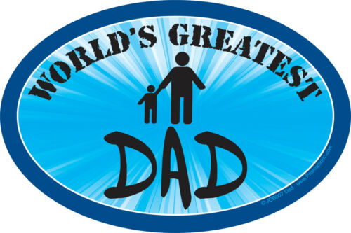 """WORLD/'S GREATEST DAD car Magnet Large 6/""""x 4/"""" Great Father/'s Day Gift"""