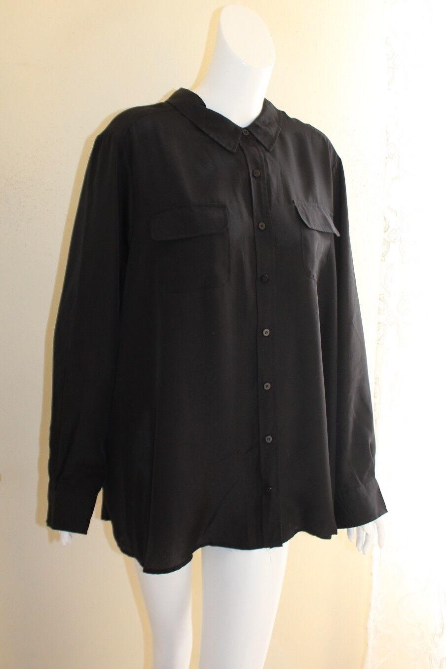 Ulla Popken -Sz 24 26 2X 3X schwarz Funky Artsy Silky Lightweight Shirt Jacket