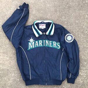 Seattle-Mariners-MLB-Baseball-FLEECE-LINED-Coat-Majestic-Authentic-Jacket-Ichiro