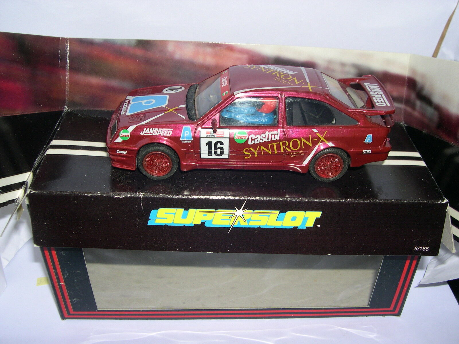 SUPERSLOT C001 FORD SIERRA COSWORTH SYNTRON X SCALEXTRIC UK MB