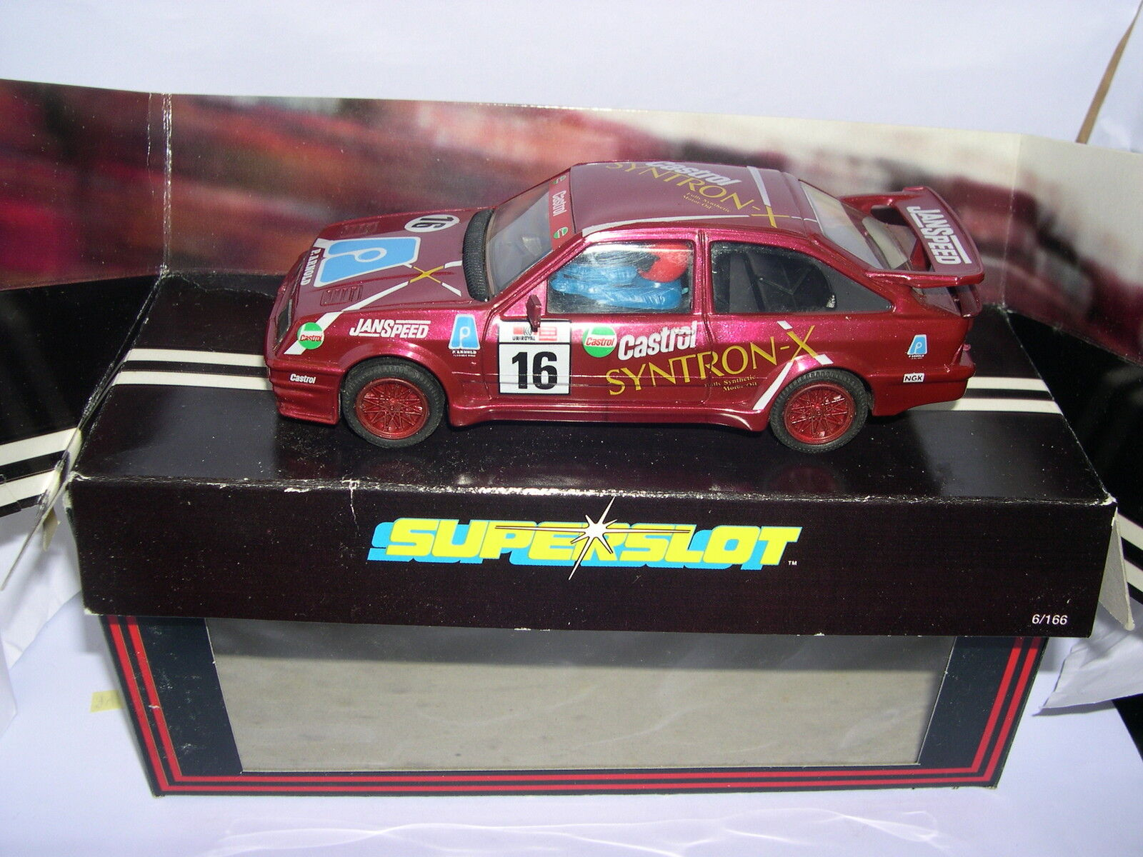 Superslot C001 Ford Sierra Cosworth   16 Syntron x Scalextric UK MB  vendita outlet