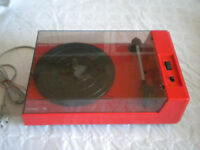 1970s Orange Radiola Music 5120 Portable vintage Record player