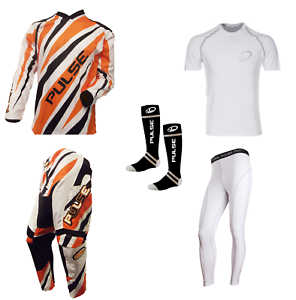 PULSE-DIMENSION-ORANGE-MOTOCROSS-MX-ENDURO-ATV-BMX-MTB-KIT-BASE-LAYERS-amp-SOCKS
