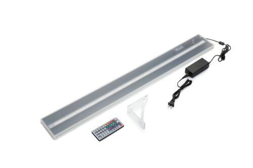LED Lit Acrylic Bottle Display 3ft 10in Wall Mounted Shelf