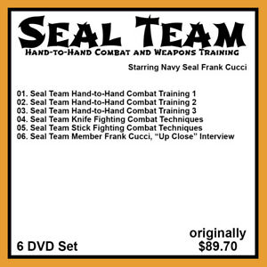 Details about Frank Cucci's SEAL Team Hand to Hand Combat & Weapons Tactics  (6 DVD Set)