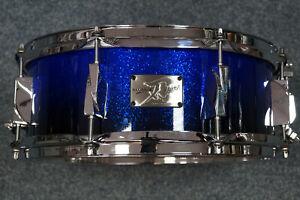 "Canopus Yaiba Maple Snaredrum ""Cobald Blue Sparkle Fade Lacquer"" -14x5,5"""