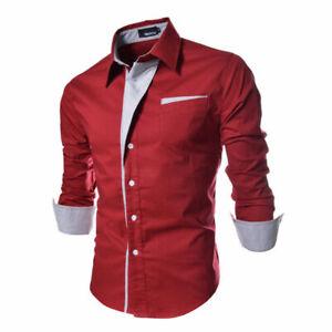 Camisas para hombres Casual Elegante Estilo Nuevo Moda Slim CAMISA ropa de Hombe