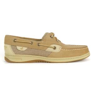 Sperry Top-Sider Women's Bluefish 2-Eye Linen/Oat Boat Shoe Slim 9276619 NEW!