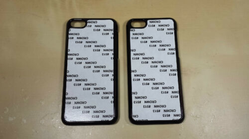 FREE SHIPPING !! 10 Black  iphone 5C case for sublimation printing metal Back !