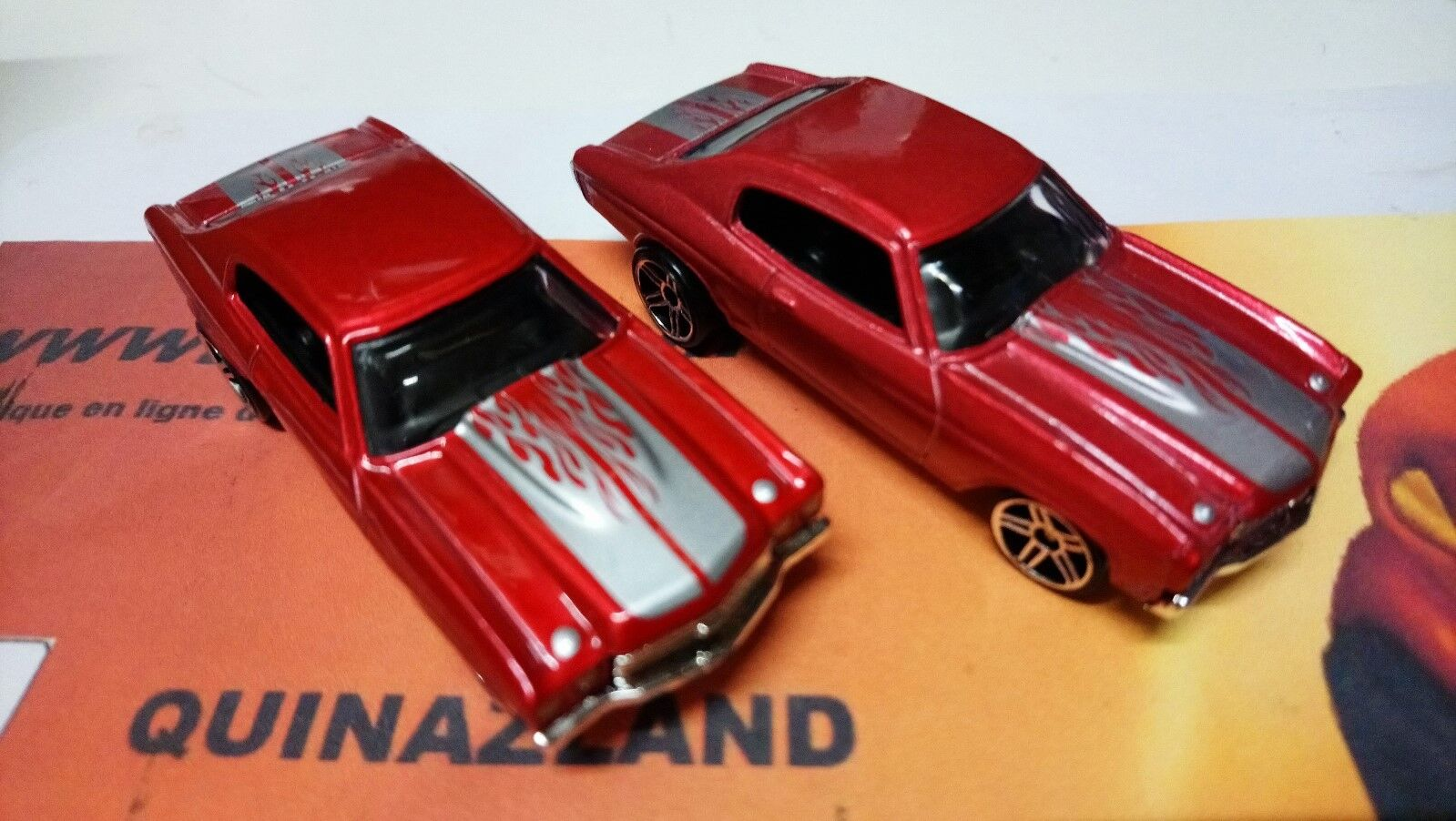 Rare 2 Hot Wheels 1970 Chevrolet Chevelle SS Variation Couleur 2006-086 (B48)
