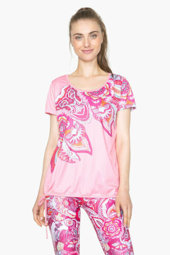 Desigual Sportcollection shirt TS A TS Laces 2 Salmon Rose afficher le titre d'origine