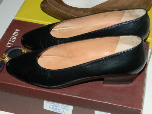 À Leder Leather 3 Minelli Cuir Escarpin Vintage Size Lot Chaussure Shoes Talon 2 vFvpnIxg6