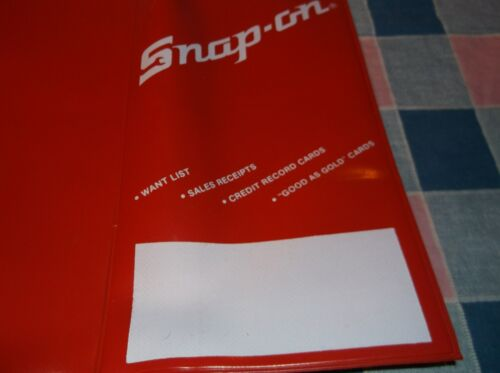 """Older Snap-On Tools Holds Credit Cards  Receipts Open 8 3//8 x 7 3//8/""""  Clear Spot"""