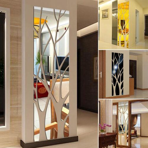 Acrylic Tree Branch Living Room Wall Mirror Sticker Self-adhesive Home DIY Decor