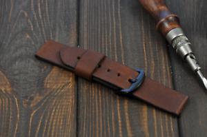 Handmade-Leder-Uhrenarmband-18mm-20mm-21mm-22mm-24mm-26mm-Watch-Band-Minimalismus