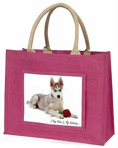 Personalised (Any Name) Large Pink Shopping Bag Christmas Present I, VAD-H54RBLP