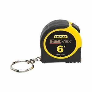 K12 Stanley FMHT33706W Fat Max Keychain Tape Rule 1//2-Inch by 6-Feet
