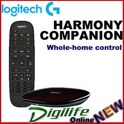 e038bdbbdbd Details about Logitech Harmony Companion Whole-home Control Universal Remote  iOS or Android