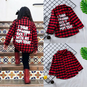 Toddler-Kids-Baby-Girls-Long-Sleeve-Plaid-Shirt-Cotton-T-shirt-Tee-Tops-Clothes