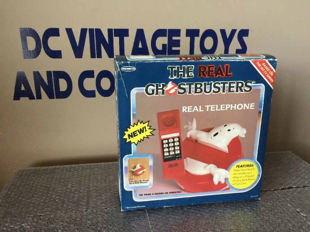 Vintage 1987 Remco The Real Ghostbusters Real Telephone Columbia Pictures RARE