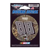 Dale Earnhardt Jr 88 Camo Nascar 3 Round Decal Sticker