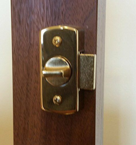 Storm Door Keyed Deadbolt IR-DB-02-BB 1 Inch Thick Door