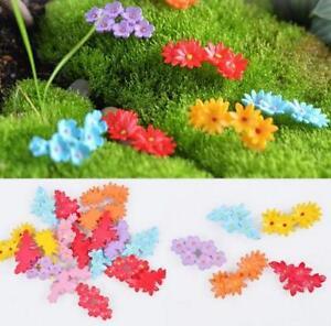 10Pcs DIY Miniature Moss Flower Fairy Garden Micro Landscape Resin Decors Craft Garden Statues & Lawn Ornaments