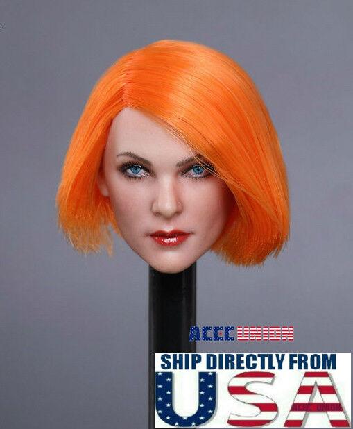 "1//6 Female Head Sculpt Orange Hair GC019 D For 12/"" PHICEN Hot Toys Figure ❶USA❶"