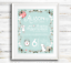 Personalised Baby Birth Details Print New Baby Girl Gift or Christening Gift