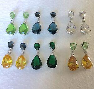 P-Designer-30x12mm-pear-drop-dangle-silver-white-gold-fill-earrings-Plum-UK-BOXD