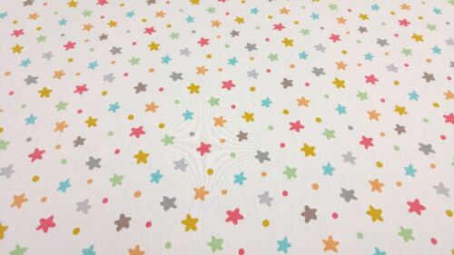 iLiv Multi Stars and Spots Curtain Upholstery Craft Designer Cotton Fabric