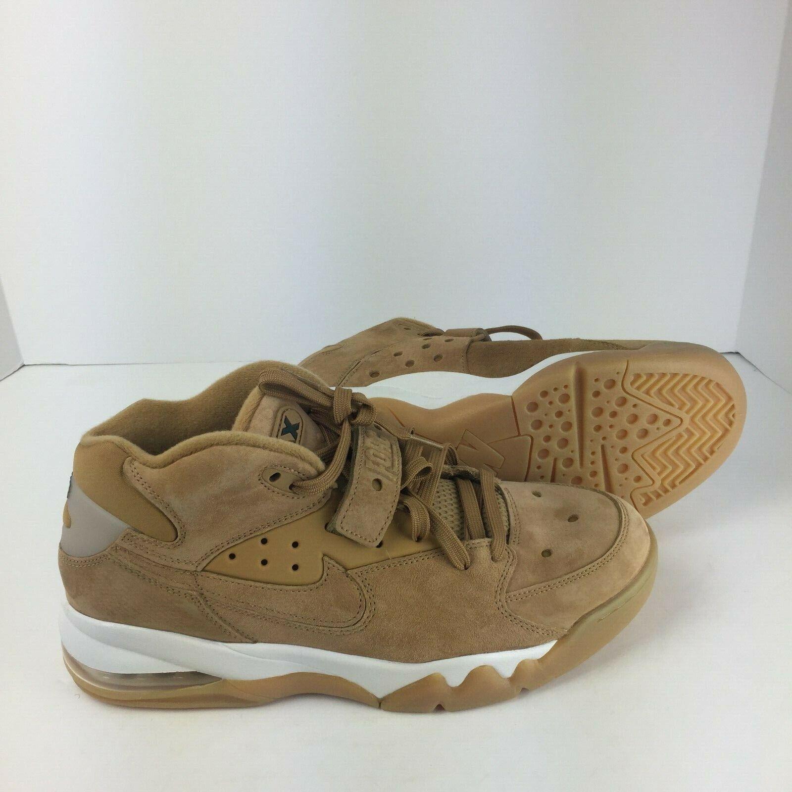 Nike Air Force Max Premium Mens Wheat White 315065-200 Basketball Sneaker