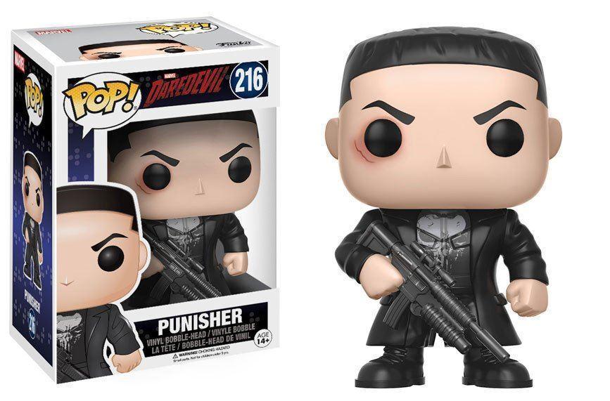 Marvel Tollkühnen - - - Punisher 9.5cm Pop Vinyl Figur Funko 216 UK Verkäufer fec460