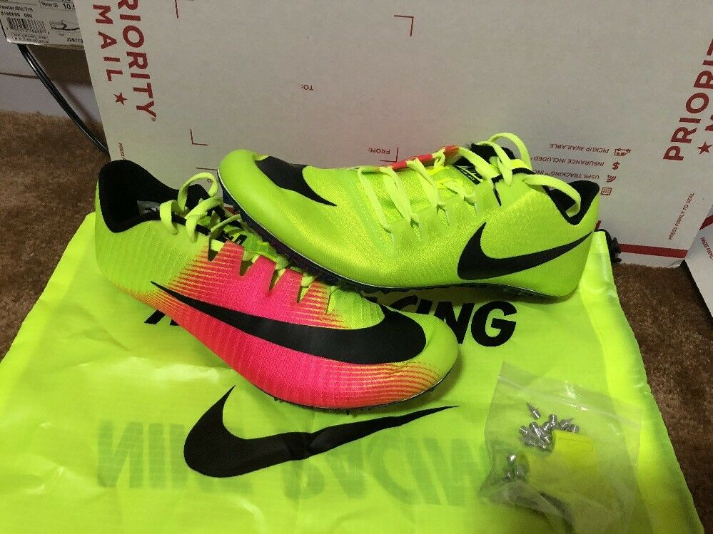 New Nike Zoom JAFLY 3 OC Volt Pink Size 9.5 Track Spikes (882039-999)
