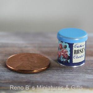 "Dollhouse miniature food 1:12 Replica Vintage /""Roses/"" Tin //empty"