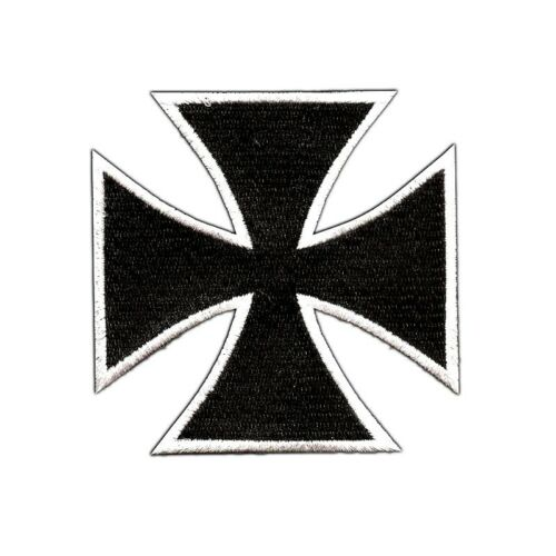Aufnäher Aufbügler Eisernes Kreuz EK iron cross biker chopper wehr oldschool