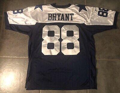 Dallas Cowboys Dez Bryant Stitched Authentics Throwback Reebok Jersey Men Sz 52