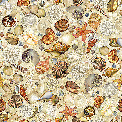 FABRIC Quilting Treasures ~ OCEAN OASIS ~ Dan Morris (25833 E) by 1/2 yd